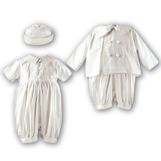 Sarah Louise Boys Christening Romper, Jacket & Hat 2215