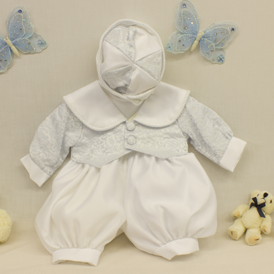 Boys Christening Romper Suit