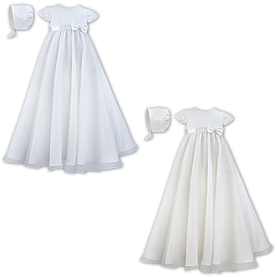 Sarah Louise Christening Gown & Bonnet – 001032