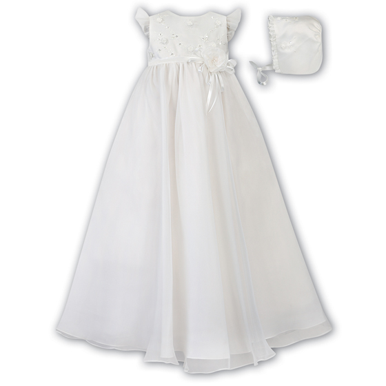 Sarah Louise Christening Gown and Bonnet 001042