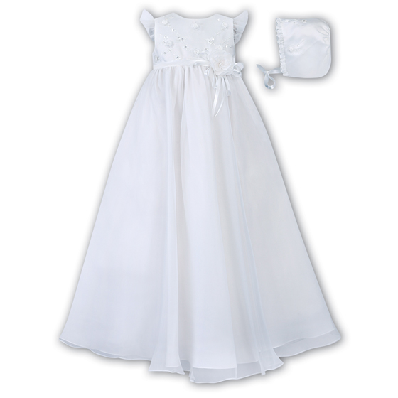 Sarah Louise Christening Gown & Bonnet – 1040