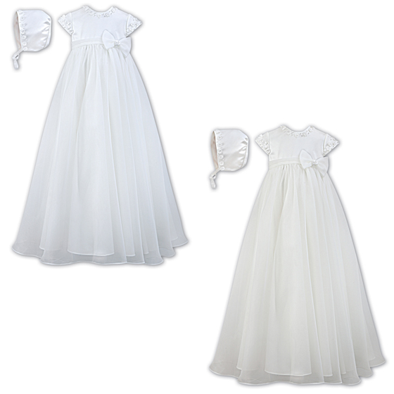 Sarah Louise Christening Gown & Bonnet – 001055