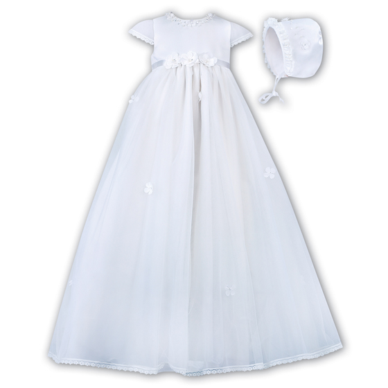 Sarah Louise Christening Gown & Bonnet – 001056