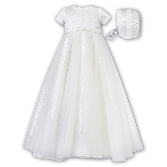 Sarah Louise Christening Gown & Bonnet - 001149