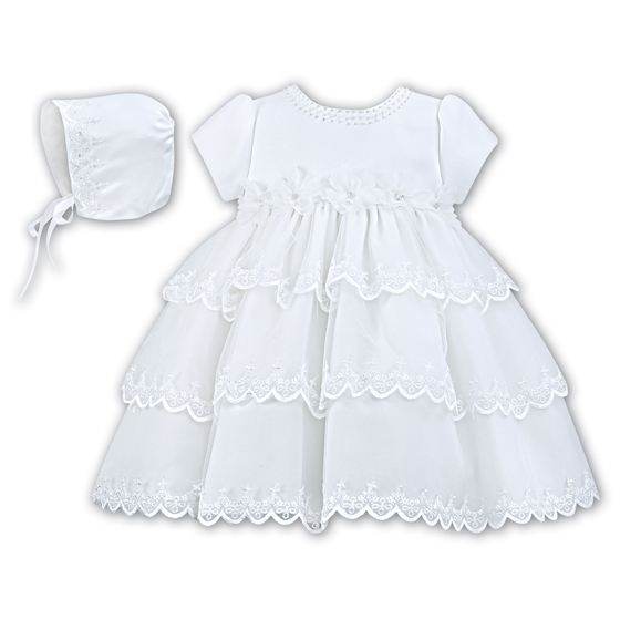 Sarah Louise Ceremonial Ballerina Length Christening Party Dress 001150