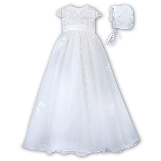 Sarah Louise Christening Gown & Bonnet - 001163