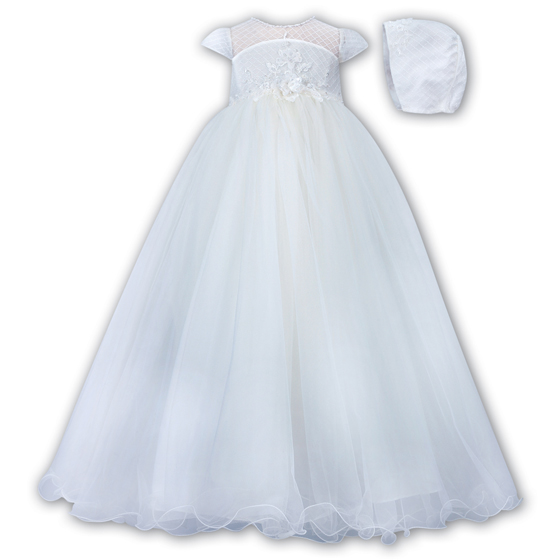 Sarah Louise Christening Gown & Bonnet - 001171