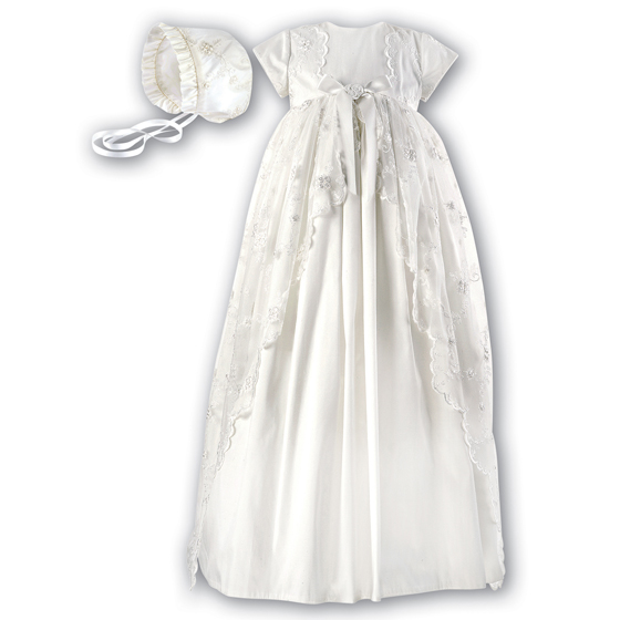 Sarah Louise Christening Gown & Bonnet - 1133