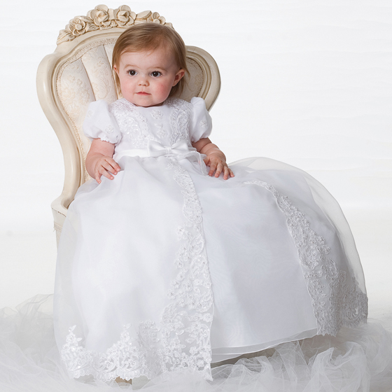 Sarah Louise Christening Gown & Bonnet - 1165