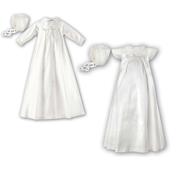 Sarah Louise Christening Gown, Slip & Hat - 1177