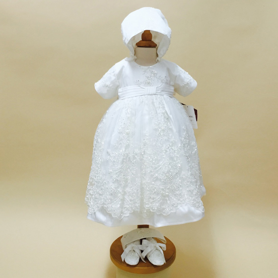 Delicate Elegance Christening Dress - 4241