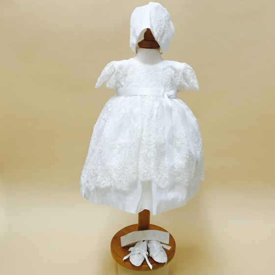 Delicate Elegance Christening Dress - 4249