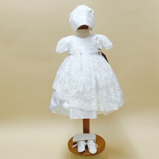 Delicate Elegance Christening Dress - 4263