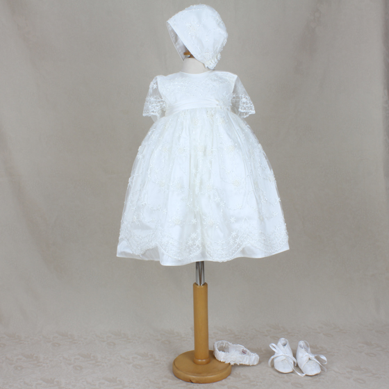 Delicate Elegance Christening Dress - 4247