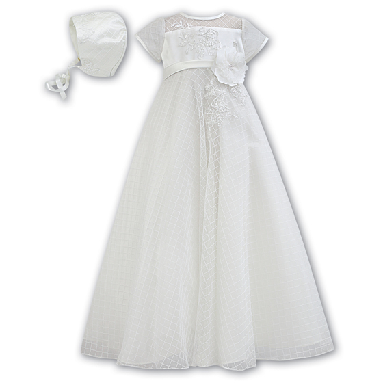 Sarah Louise Christening Gown and Bonnet 1030