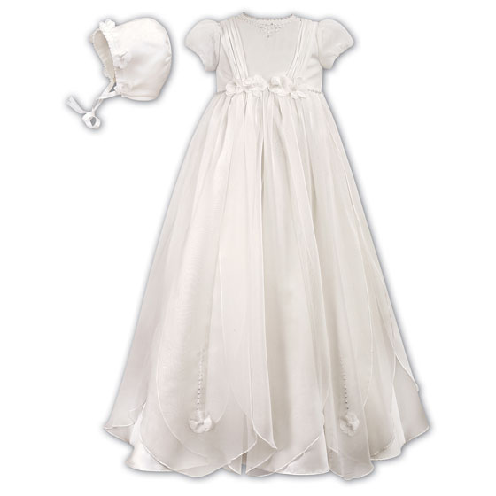 Sarah Louise Christening Gown and Bonnet 1050