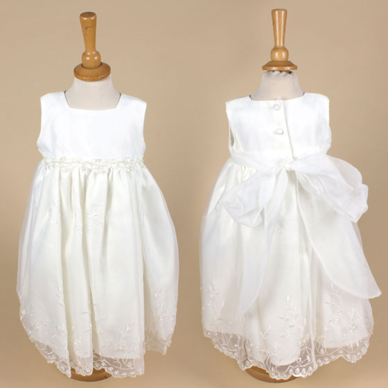 6729 Girls Christening Dress