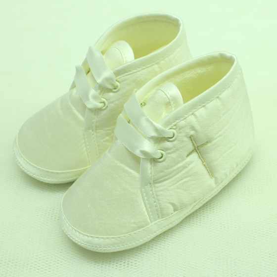 Boys Christening Shoes With Cross